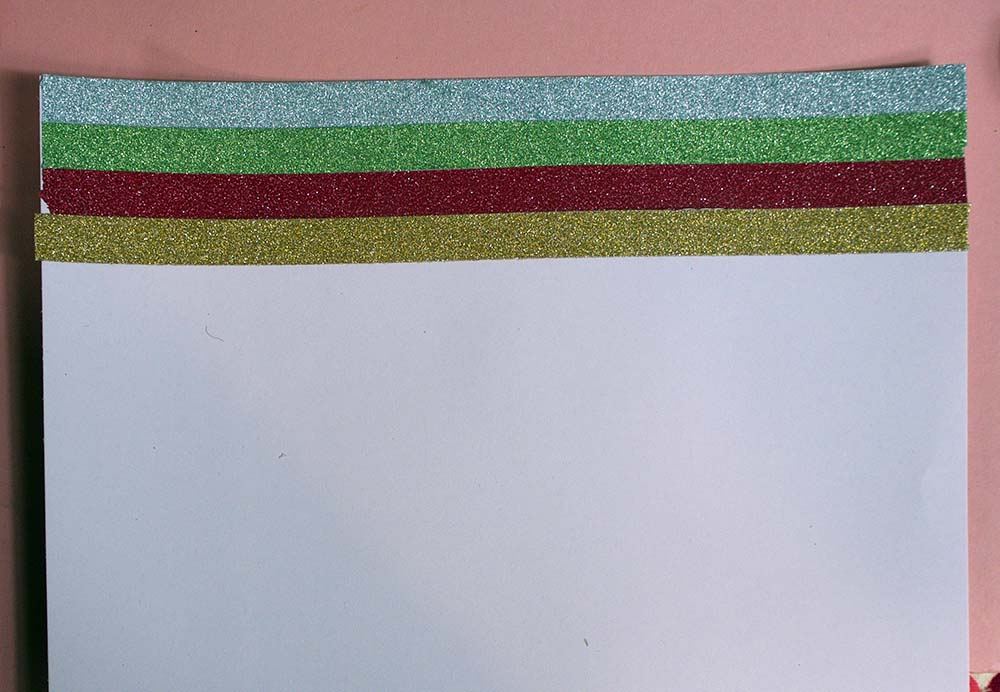 Lines of metallic washi tape