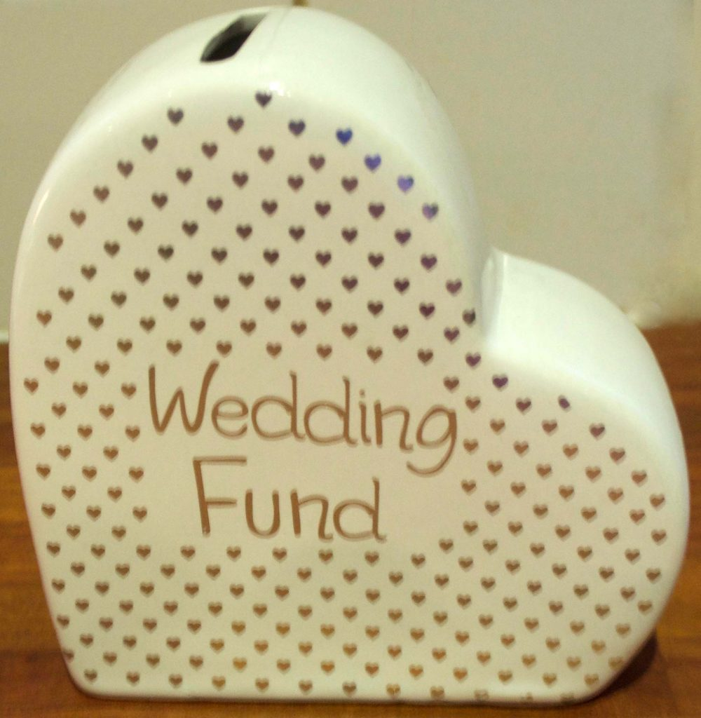 wedding fund poundland moneybox