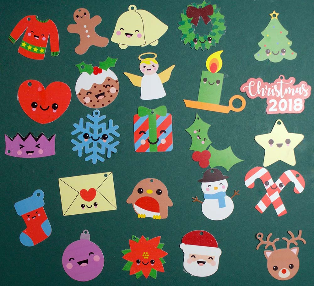 cutout christmas charms cricut