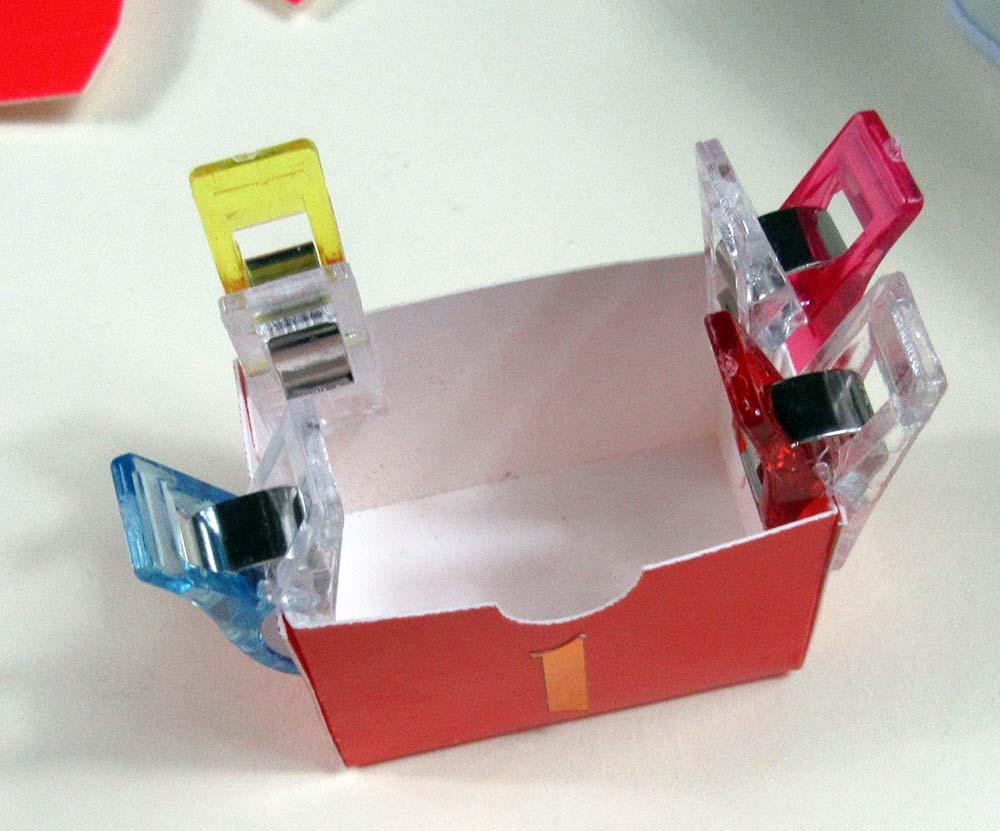 glued advent calendar box