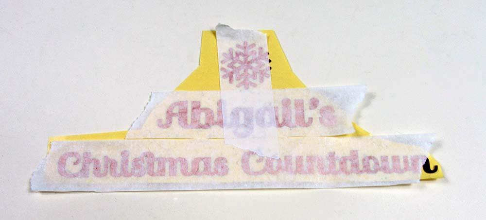 masking tape on vinyl cricut