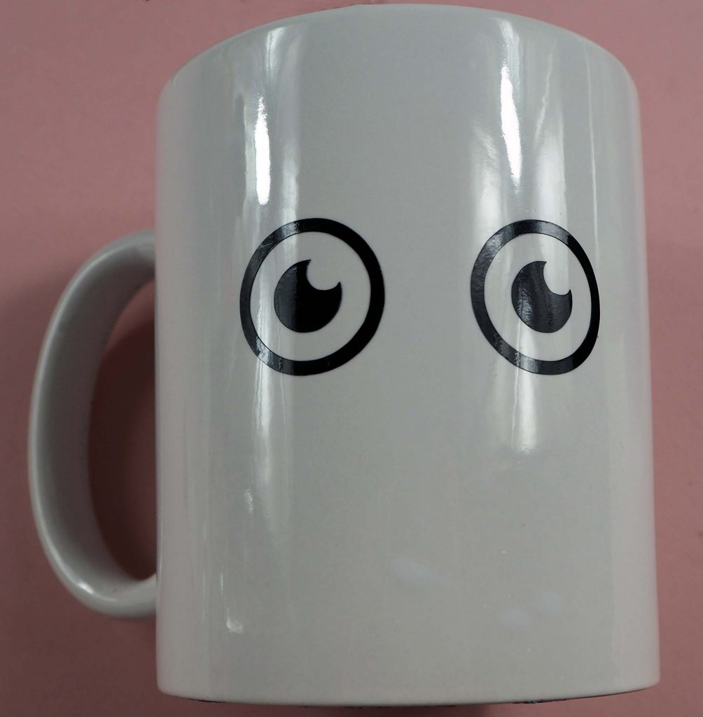 Mug with Eyes Cricut Project