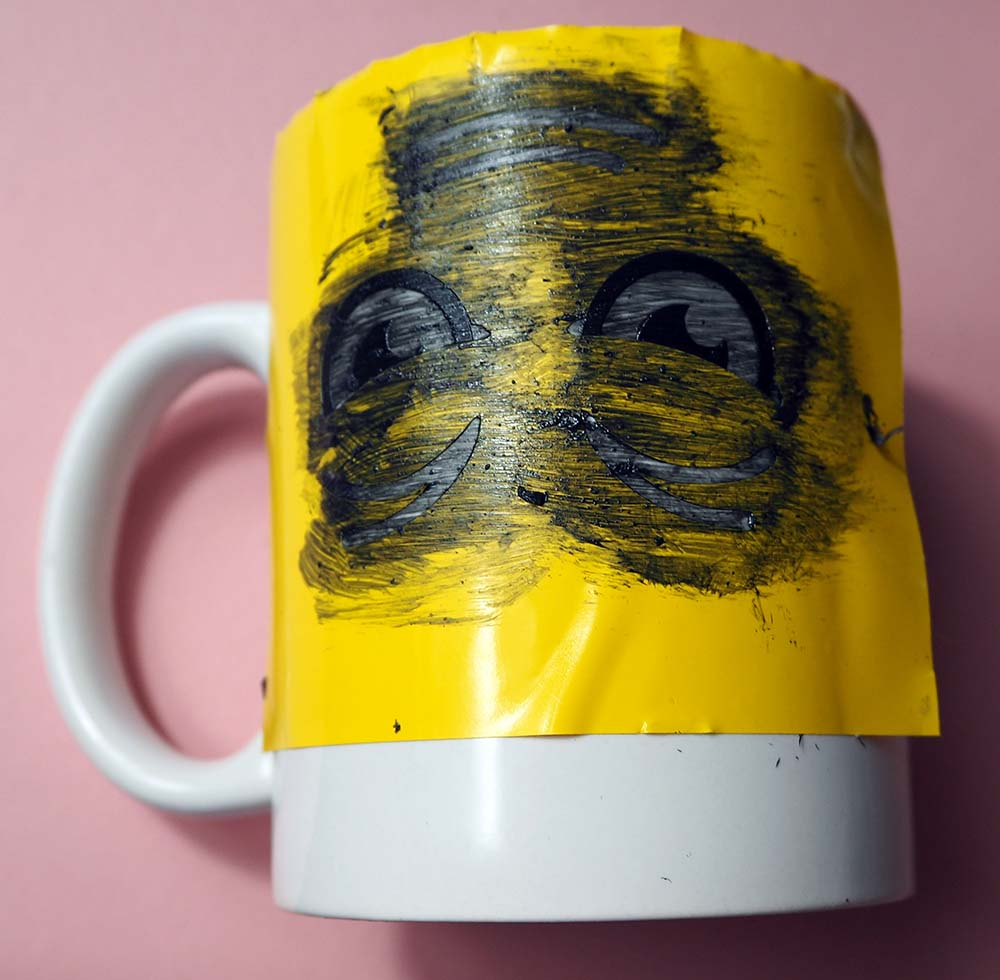 second layer colour mug