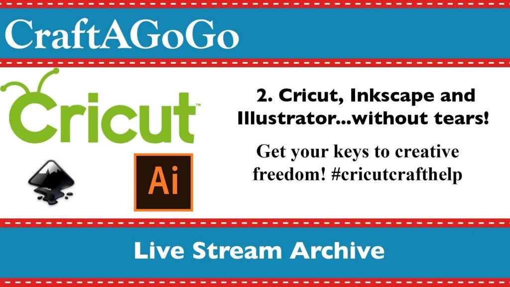 Inkscape with cricut livestream video