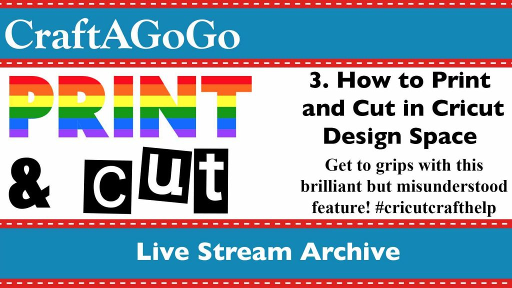 Print and Cut Video Livestream