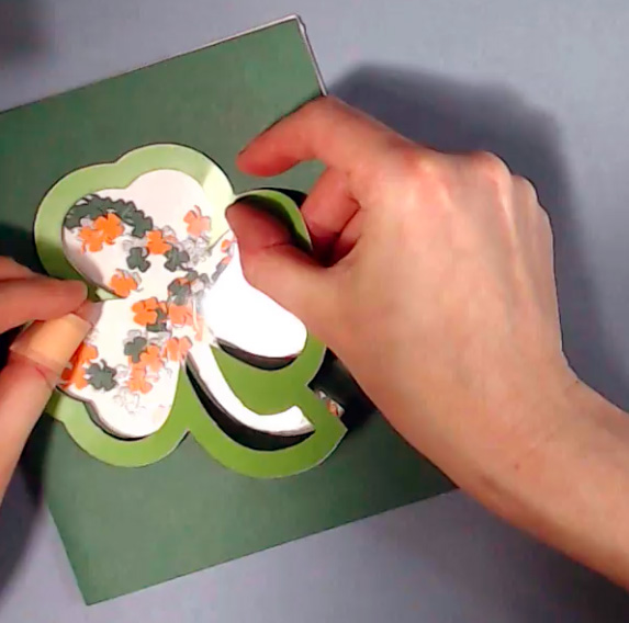 Apply Shamrock to Cricut Card