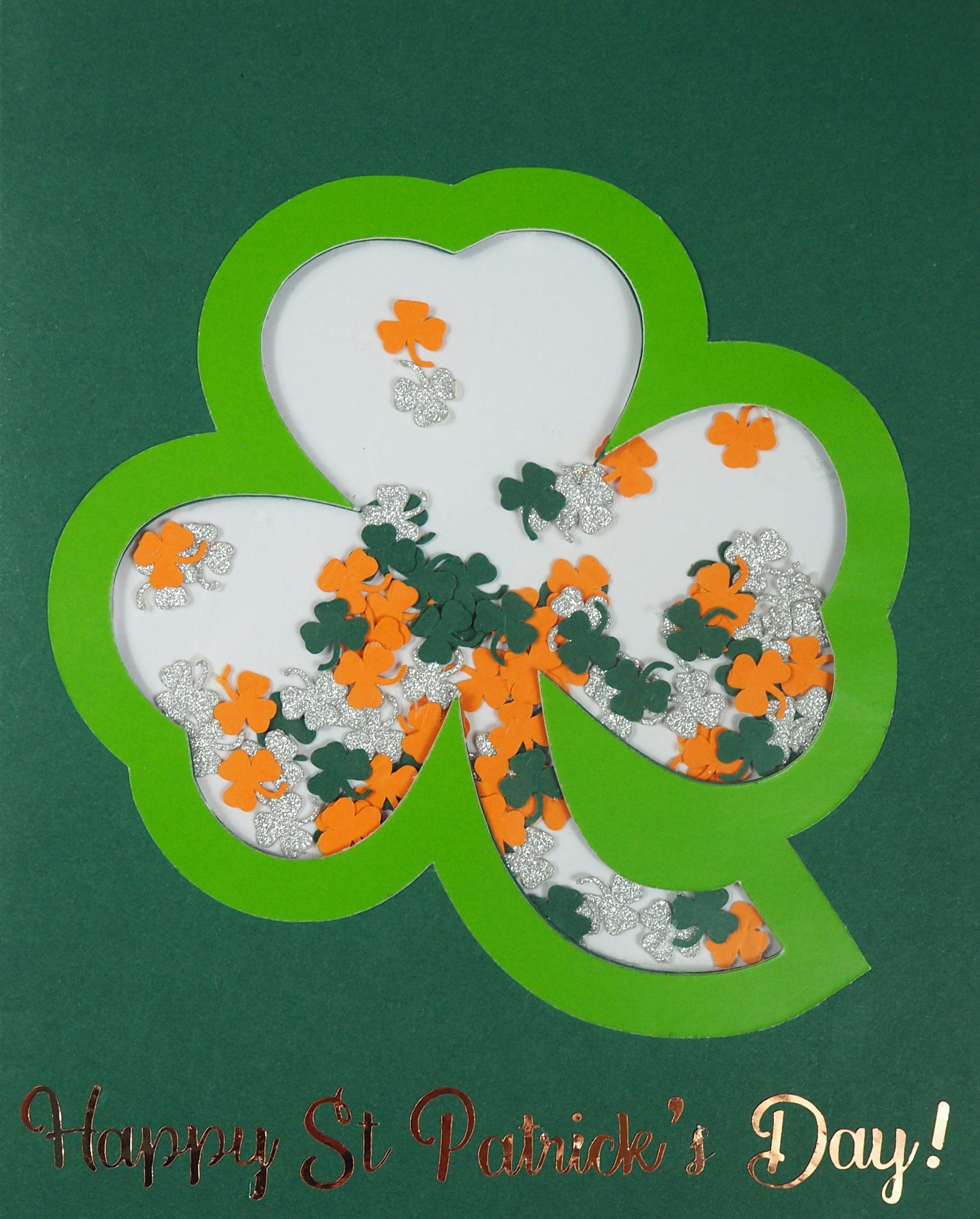 St Patrick's Day Shaker Card
