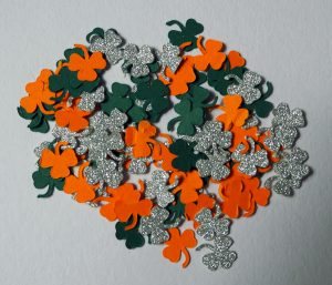 St Patrick's Day Confetti on the Cricut