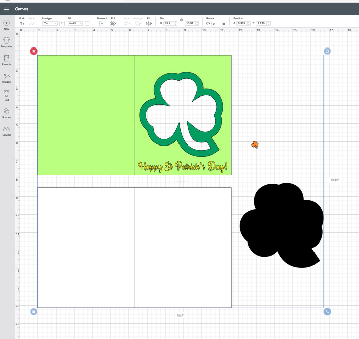 St Patrick's Day Shaker Card Design Space