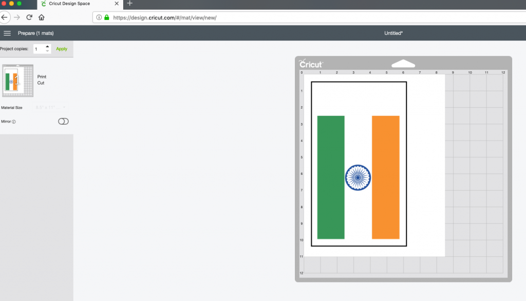 Print and Cut Indian Flag DS
