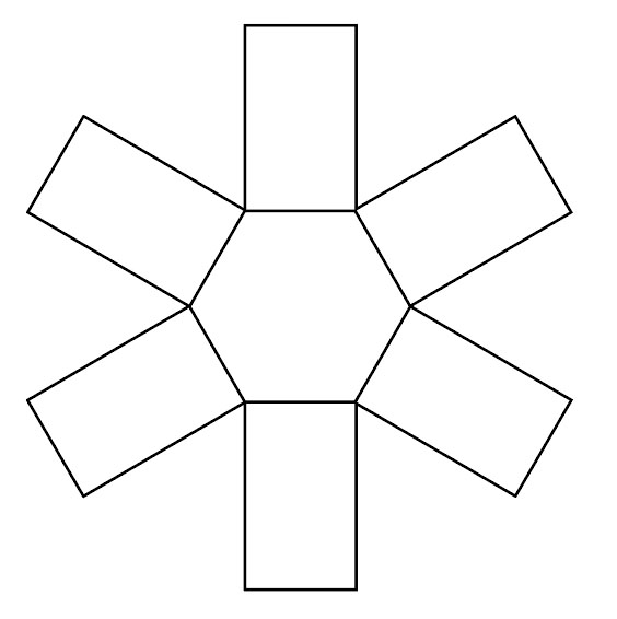 basic hexagon box shape