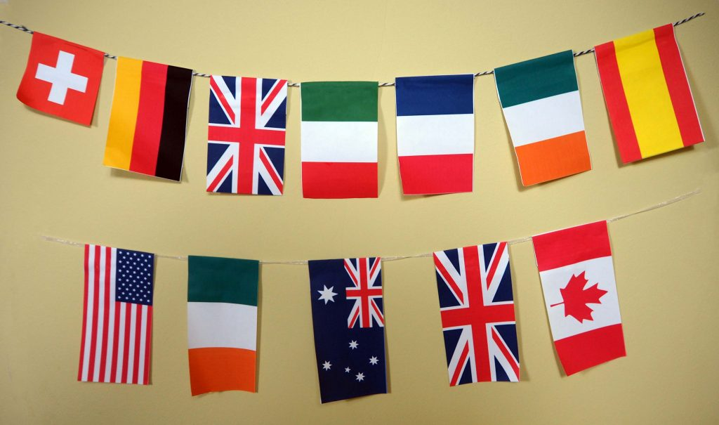 international bunting Cricut