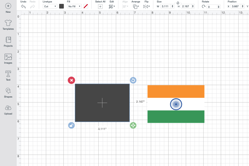 making indian flag banner cricut
