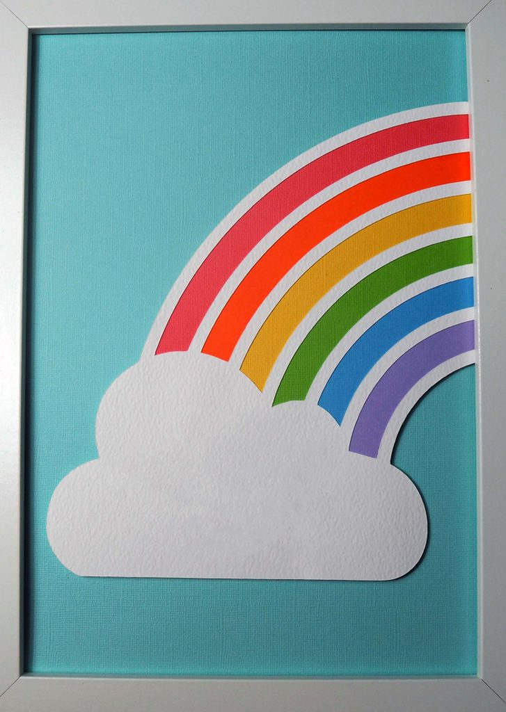 Rainbow cloud wall art Cricut Silhouette Craftagogo