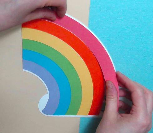 full rainbow with pieces glued on