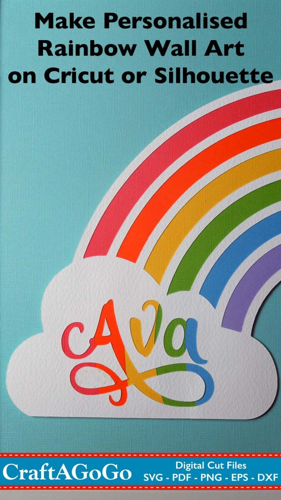 make personalised rainbow art pin